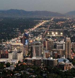 Summer Evening Salt Lake City Skyline