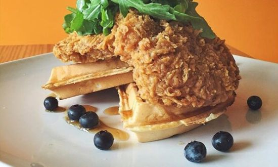 Fiction Kitchen Chicken and Waffles