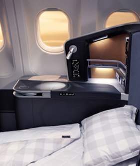 SAS Business class bed