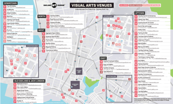 Oakland Art Murmur Map