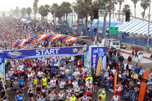 Surf City Marathon Start Line