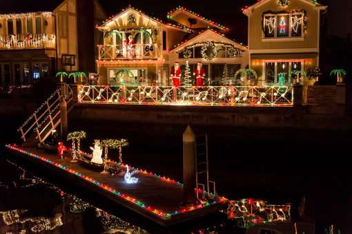 Cruise of Lights Illuminates Huntington Harbour