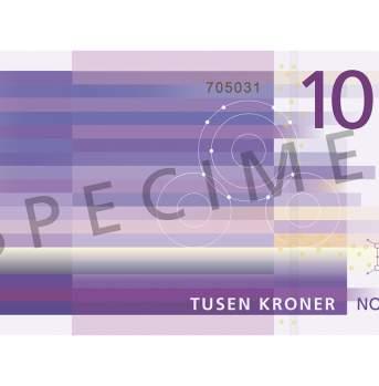 1000 kroner (bakside / reverse side)