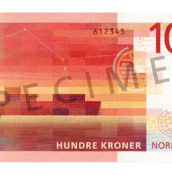 100 kroner (bakside / reverse side)