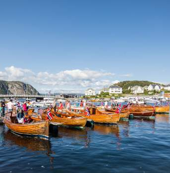 Boat culture Farsund Norway