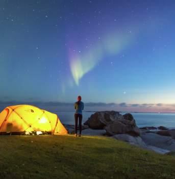 Northern lights, Uttakleiv, Lofoten