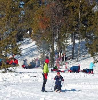 Fun in the snow on cross-country skiing in Ål in Hallingdal