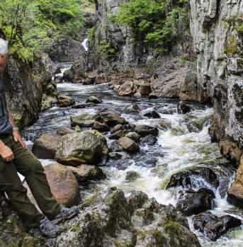 Fisherman at Lygna River Lyngdal Norway