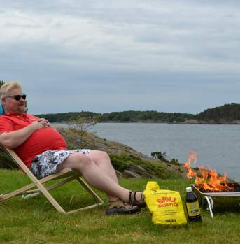 Barbecuing at Kristiansand Feriesenter