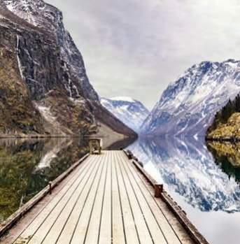 Norge i et nøtteskall - frossent landskap