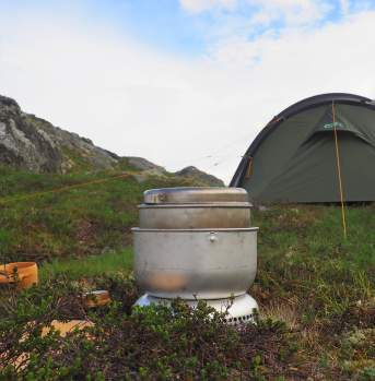 Camping near the lake in the mountains of Ål in Hallingdal