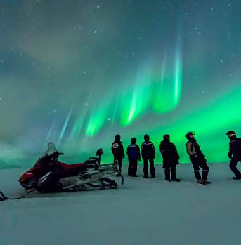Hurtigruten snowmobile trip