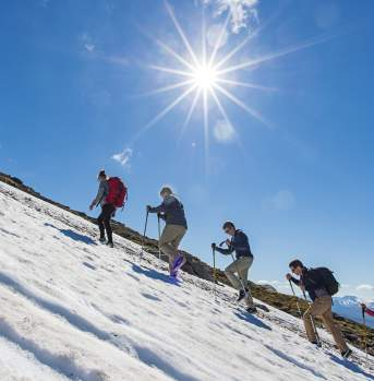 Snow hiking in Tromsø