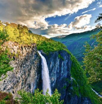 The Vettisfossen waterfall, Sognefjord