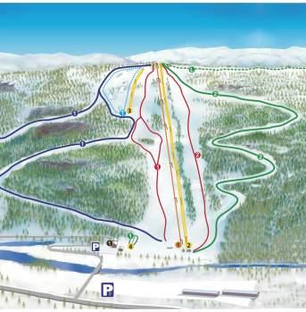 Piste map Brokke Alpine Center
