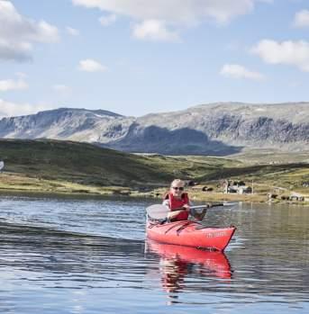 Kajakk på Bergsjø, Ål i Hallingdal