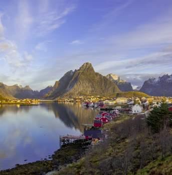 Reine dans les îles Lofoten en Norvège