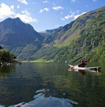 Kayaking, The Nærøyfjorden