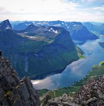 From Slogen, Øye,  Hjørundfjorden