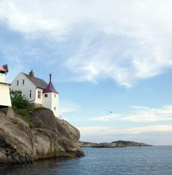 Rivingen Lighthouse by Grimstad, Southern Norway