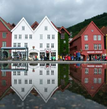 Bryggen, the old wharf of Bergen