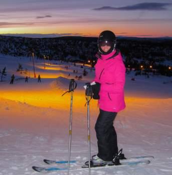 Evening skiing, Trysil