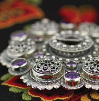 Jewellery produced in Setesdal for national Costume