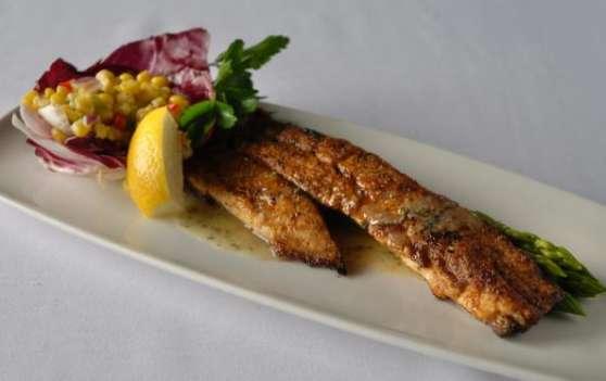 Redfish with Crawfish Salad