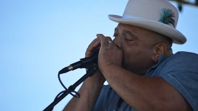 B.F. Burt on Harmonica