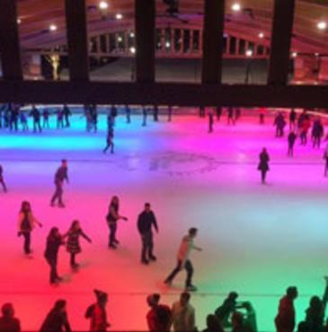 Ice Skating Central Park Plaza Valparaiso
