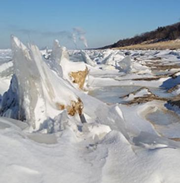 Shelf Ice on Lake Michigan