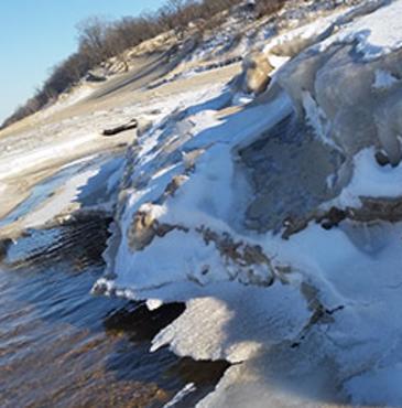 Shelf Ice Indiana Dunes