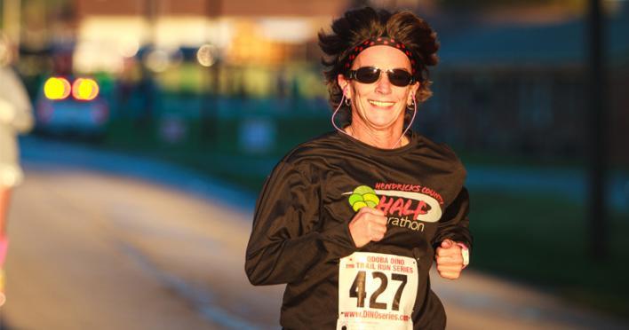 Woman Running at HC 1/2 Marathon