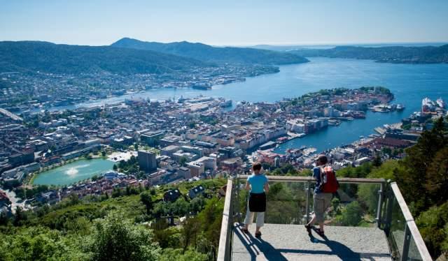 Mount Fløyen in Bergen