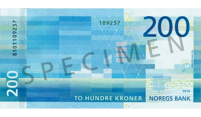 200 kroner (bakside / reverse side)