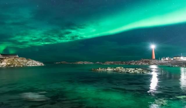 Aurora boreale in Norvegia