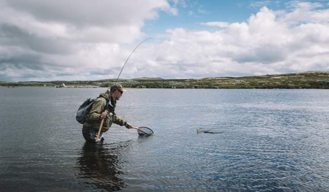 Fly-fishing for Salmon in Norwegian's Hardangervidda National Park