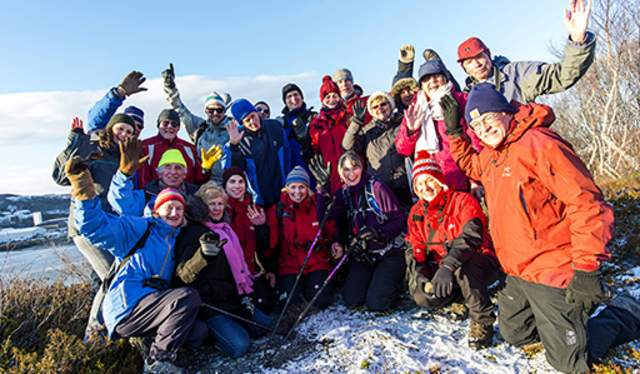 Hurtigruten expedition Winter hike
