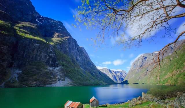 Stunning view of Nærøyfjord
