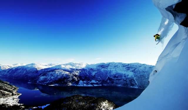 Skiing in Sogndal, Fjord Norway