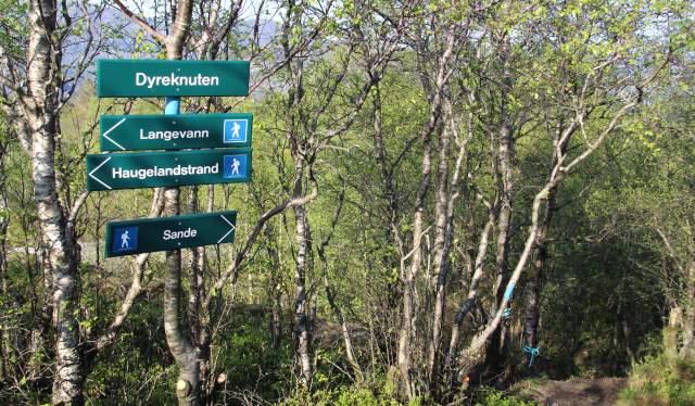 Skilt på Dyreknuten Kvinesdal southern Norway