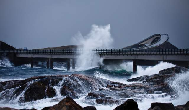 The Atlantic Road autumn storm