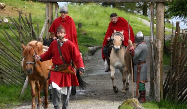 Viking and horse on Bukkøy