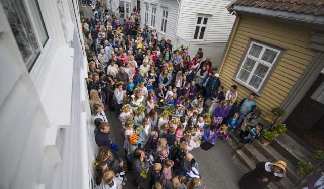 Festival in Hollenderbyen Flekkefjord Norway