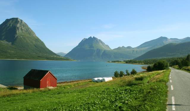 Beautiful Aldersund on the Helgeland coast