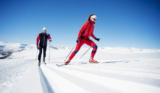 Crosscountry skiing in Hovden