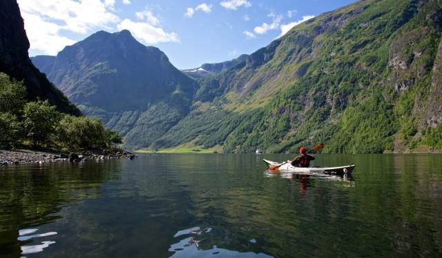Kayaking, The Nærøyfjorden