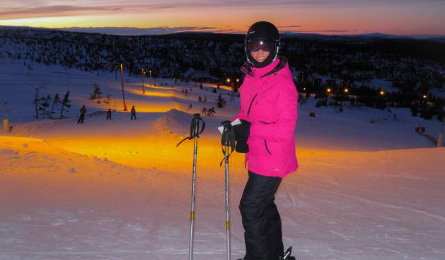 Evening skiing, Trysil