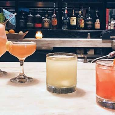 Lineup  of spring cocktails