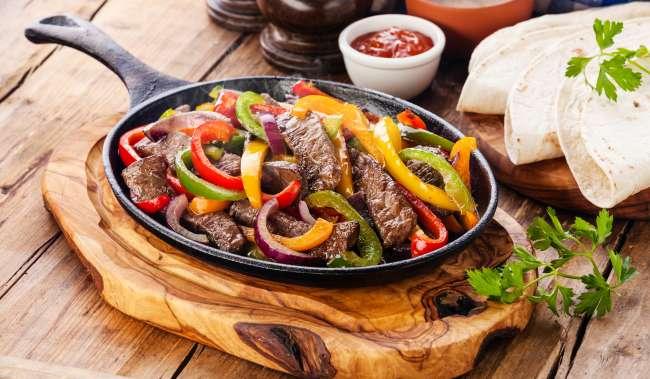 Mexican Cuisine Fajitas